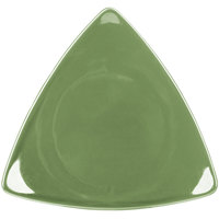 CAC TRG-7GRE Festiware Triangle Flat Plate 7 inch - Green - 36/Case