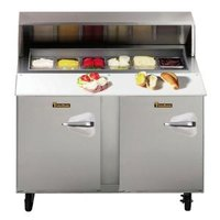 Traulsen UPT4818-LL 48 inch Sandwich / Salad Prep Refrigerator with Left Hinged Doors