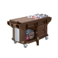 Cambro VBRUTHD5146 Bronze 5' Versa Ultra Work Table with Storage and Heavy-Duty Casters