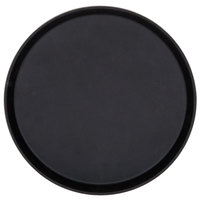 Cambro 1400TL110 Treadlite Black 14 inch Round Non-Skid Fiberglass Serving Tray - 12/Case