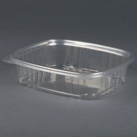 Genpak AD24 7 1/4 inch x 6 3/8 inch x 1 7/8 inch 24 oz. Clear Hinged Deli Container - 200 / Case