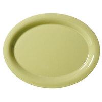 GET OP-120-AV Avocado Diamond Harvest 12 inch x 9 inch Oval Platter - 12/Case