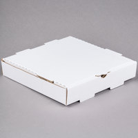 10 inch x 10 inch x 1 3/4 inch White Corrugated Plain Pizza / Bakery Box - 50/Bundle