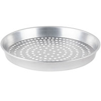 American Metalcraft SPHA90091.5 9 inch x 1 1/2 inch Super Perforated Heavy Weight Aluminum Tapered / Nesting Pizza Pan