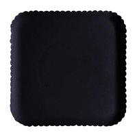 GET HI-2009-BK Mediterranean 12 inch Black Square Polycarbonate Plate - 12/Case