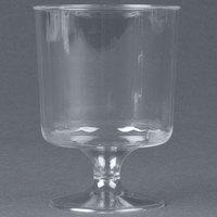 WNA Comet CCW5240 Classicware 5 oz. Clear Plastic Pedestal Wine Cup - 240/Case