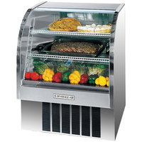 Beverage Air CDR4/1-S-20 Stainless Steel Exterior Curved Glass Refrigerated Bakery Display Case 49 inch - 18.1 Cu. Ft.