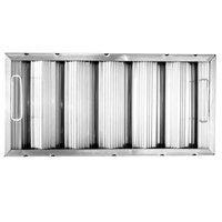 All Points 26-3889 10 inch x 20 inch x 2 inch Stainless Steel Hood Filter - Ridged Baffles