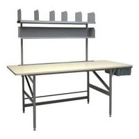 Bulman A80-35 36 inch x 84 inch Standard Packing Table with Shelves