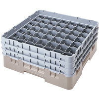 Cambro 49S800184 Beige Camrack 49 Compartment 8 1/2 inch Glass Rack