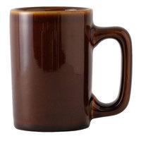 Tuxton BAM-1007 DuraTux 10 oz. Texan Caramel Mug - 4 1/2 inch x 3 1/4 inch x 4 1/2 inch 24 / Case