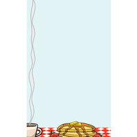 8 1/2 inch x 11 inch Menu Paper - Diner Theme Left Insert - 100 / Pack