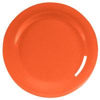 Carlisle 4300252 Durus 10 1/2 inch Sunset Orange Narrow Rim Melamine Plate - 12/Case
