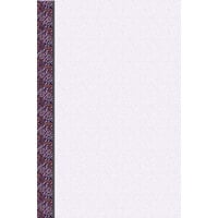 8 1/2 inch x 11 inch Menu Paper Left Insert - Purple Woven Border - 100/Pack