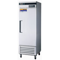Turbo Air TSR-23SD 27 inch Super Deluxe Stainless Steel Single Solid Door Refrigerator - 23 Cu. Ft.