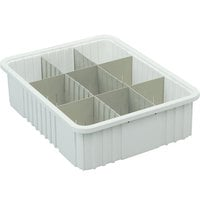 Short Metro MDS92035N Gray Tote Box Divider - 11 inch x 4 inch