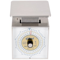 Edlund DR34-C Combination U.S. and Metric 34 oz. / 1000 g. Portion Scale with 6 inch x 6 3/4 inch Platform