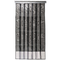 Curtron 405008 48 inch x 84 inch Mesh Strip Door / Insect Barrier and Bug Curtain
