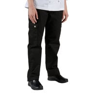 Chef Revival LP002BK Size 2X Black Ladies Cargo Chef Pants - Poly-Cotton