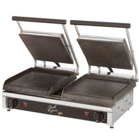 Star GX20IS Dual 10 inchx 10 inch Grill Express Heavy Duty Smooth Top & Bottom Panini Grill