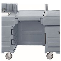 Cambro KMC24191 Granite Gray CamKiosk Connector Unit with Front Panel