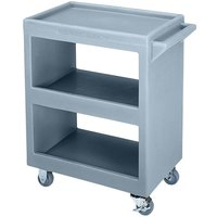 Cambro BC225401 Slate Blue Three Shelf Service Cart - 28 inch x 16 inch x 32 1/4 inch