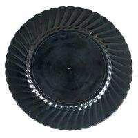 WNA Comet Classicware EcoSense 10 1/4 inch Biodegradable Black Plastic Plate - 144 / Case