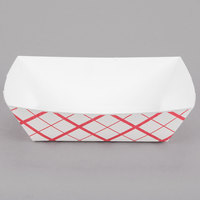 Southern Champion 425 #300 3 lb. Red Check Paper Food Tray - 500/Case