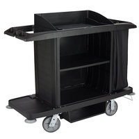 Rubbermaid FG618900BLA Full Size Housekeeping Cart