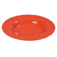 Carlisle 4303052 Durus 20 oz. Sunset Orange Melamine Pasta Bowl - 12/Case