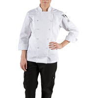 Chef Revival LJ025-L Chef-Tex Size 12 (L) White Customizable Ladies Cuisinier Chef Jacket
