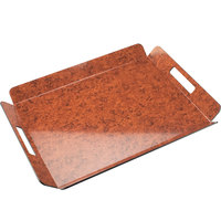 Cal-Mil 958-1-19 22 1/2 inch x 17 inch Burl Room Service Tray