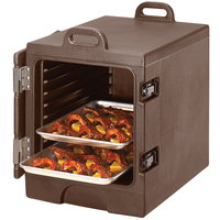 Dark Brown Cambro Camcarrier 1318MTC131 Insulated Tray / Sheet Pan Carrier - Front Load Holds Half Size Pans