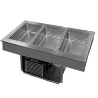 Delfield 8145-EF Three Pan Drop In LiquiTec Cooled Cold Food Well
