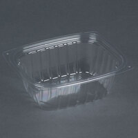 Dart Solo C12DER ClearPac 12 oz. Clear Rectangular Plastic Container - 1008 / Case
