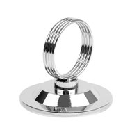 2 1/2 inch Stainless Steel Heavy Base Ring-Type Menu / Card Holder