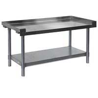 APW Wyott SSS-24L 16 Gauge Stainless Steel 24 inch x 24 inch Medium Duty Cookline Equipment Stand with Galvanized Undershelf