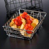American Metalcraft BZZ59C Chrome Zorro Basket - 9 inch x 6 inch x 2 1/2 inch