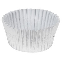 Ateco 6432 2 inch x 1 1/4 inch Silver Baking Cups (August Thomsen) - 200/Box