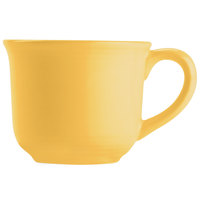 Tuxton CSF-0702 Concentrix 8 oz. Saffron Round China Mug - 24/Case