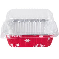 Durable Packaging 9302X 1 lb. Holiday Bread Loaf Pan with Clear Dome Lid - 100 / Case