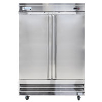 Avantco CFD-2RR 54 inch Two Section Solid Door Reach in Refrigerator - 46.5 Cu. Ft.