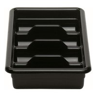 Cambro 1120CBP110 Black 4 Compartment Cutlery Box 11 inch x 20 inch