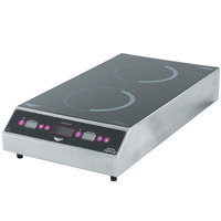 Vollrath Ultra Series 69507 Dual Hob Countertop Induction Cooker - Front to Back 3000 Watt - 208V / 3500 Watt - 240V