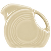 Homer Laughlin 475330 Fiesta Ivory 4.75 oz. Mini Disc Creamer Pitcher - 4/Case