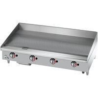Star Max 648TSPF 48 inch Thermostatic Control Gas Countertop Griddle with Safety Pilot - 113,200 BTU