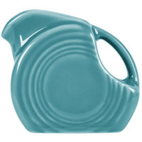Homer Laughlin 475107 Fiesta Turquoise 4.75 oz. Mini Disc Creamer Pitcher - 4 / Case