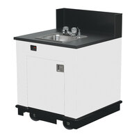 Vollrath 75671 WHITE Portable Single Bowl Hand Sink Cart 120V