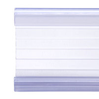 Clear Plastic Label Holder 3 inch x 1 1/4 inch