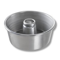 Chicago Metallic 46550 9 1/2 inch Aluminum Angel Food Cake Pan - 4 inch Deep
